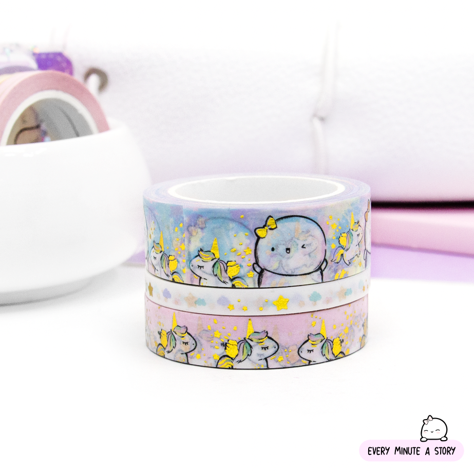 Painted Dreams- unicorn wishes Beanie washi, gold foil | LIMITED STOCK!