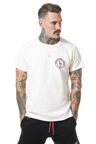 RH GYM Scorpion Raw Tee White