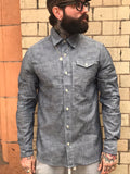Indigo chambray workshirt