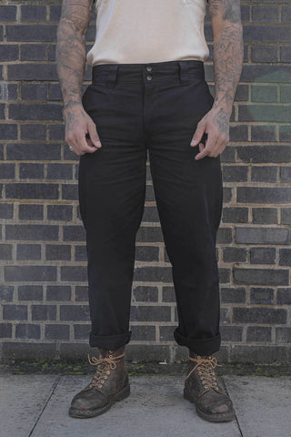 English Worker Trouser - Black Canvas