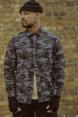 English Pistol Pocket Shirt - Grey Camo