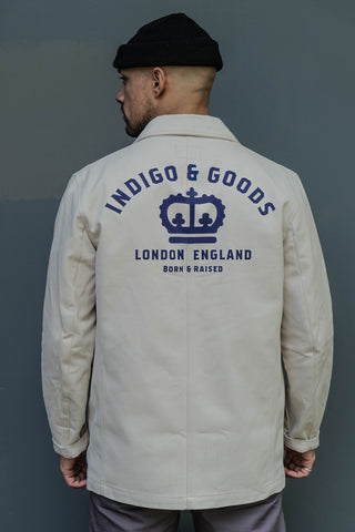 English Worker Jacket - Cream with Graphic