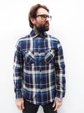 Service Shirt - Blue Plaid