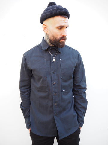 English Terrace Overshirt - Navy Canvas