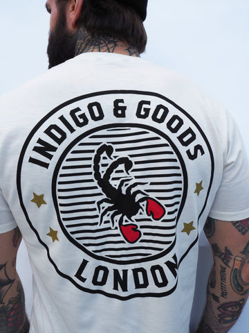 SCORPION GYM Graphic Tee White