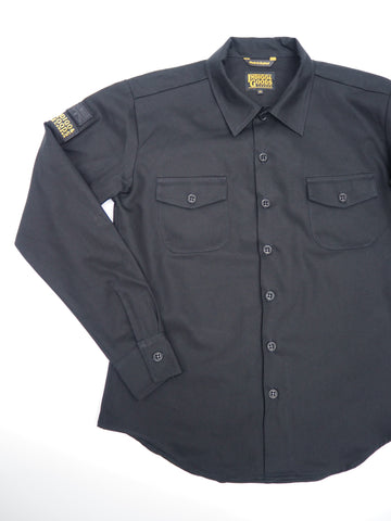 English Prison Patch Long Sleeve shirt - Black twill
