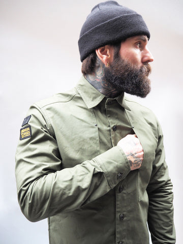 English Terrace Overshirt - Bullet Cloth Green