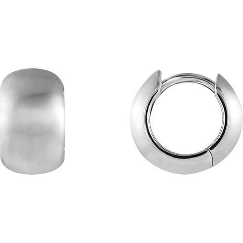 Brushed Hoop Hinged Earrings