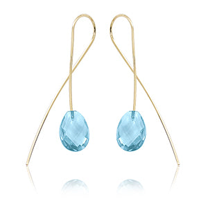 Blue Topaz Sweep Earrings