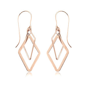 Double Diamond Brio Drop Earrings