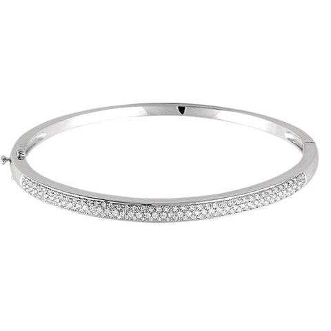 14K Diamond Bangle Pave Bracelet
