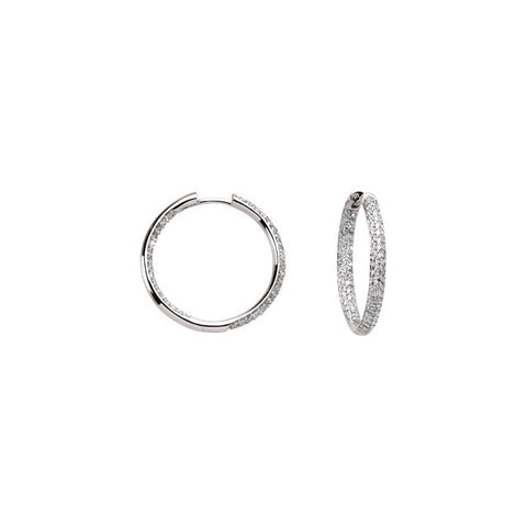 Interior + Exterior Diamond Hoop Earrings