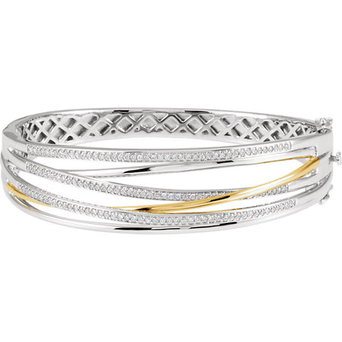 14K Two-Toned Diamond Bracelet
