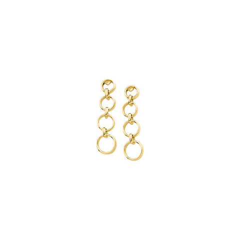 Cascading Dangle Circles Earrings