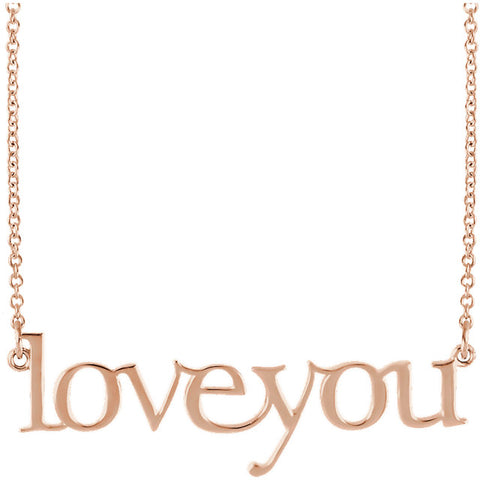 "Necklace ""Love You"""