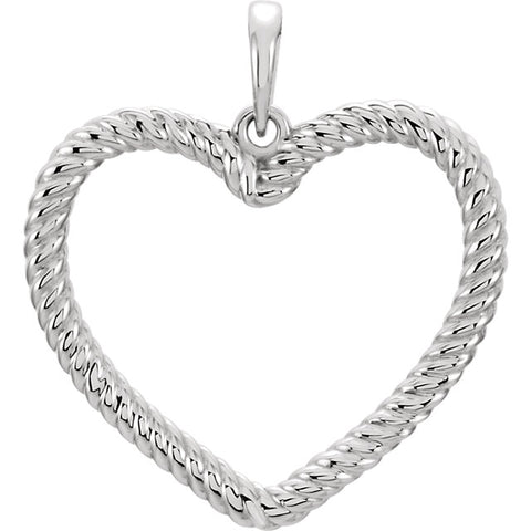 Heart Rope Pendant