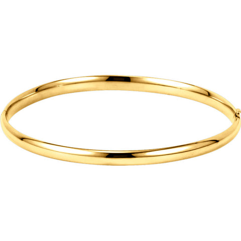4MM 14K Hinged Bangle Bracelet