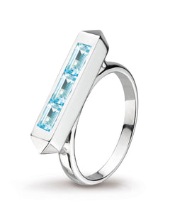Little Manhattan Sky Blue Topaz Ring