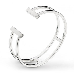 Manhattan Bar Double Torque Bangle
