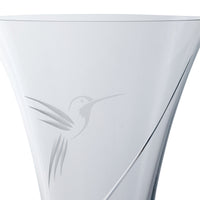 Nature Humming Bird Medium Vase | Dartington Crystal