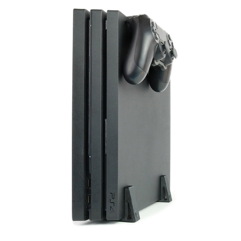 Vertical Simple Feet & Console Controller Mount Bundle for PS4