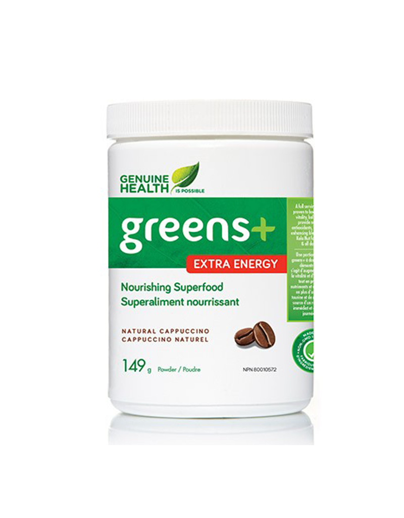 Genuine-Health-Greens-+-Extra-Energy-Natural-Cappuccino-149g