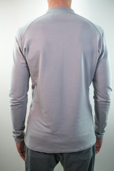 Uptown Long Sleeve Henley // Gray