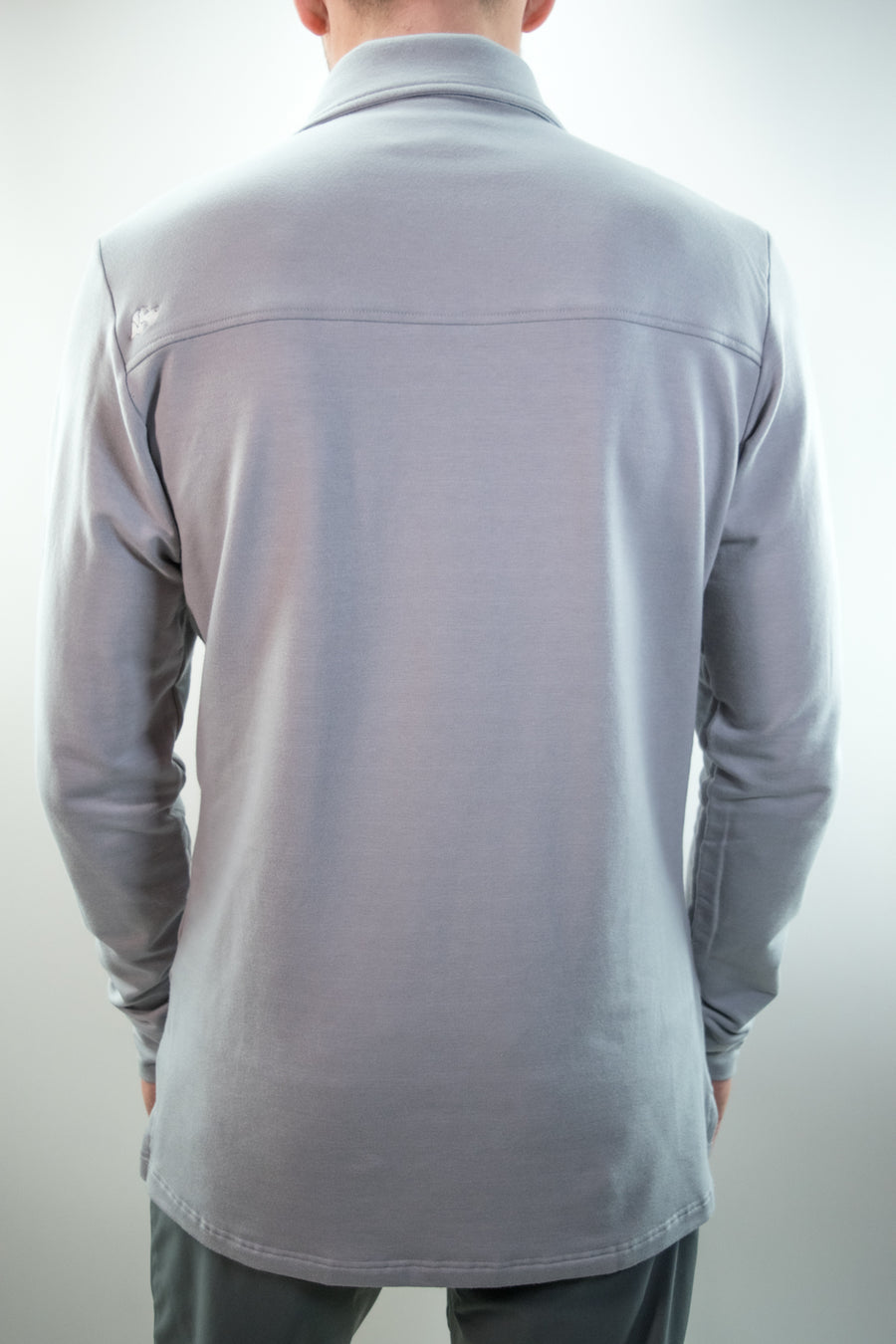 Legacy Long Sleeve Polo // Gray