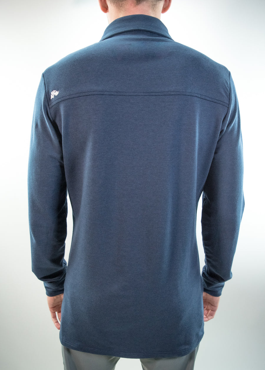 Legacy Long Sleeve Polo // Navy