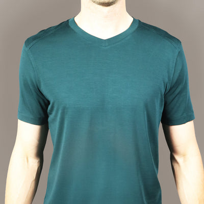 Tall Mile High V Neck // Viridian Green