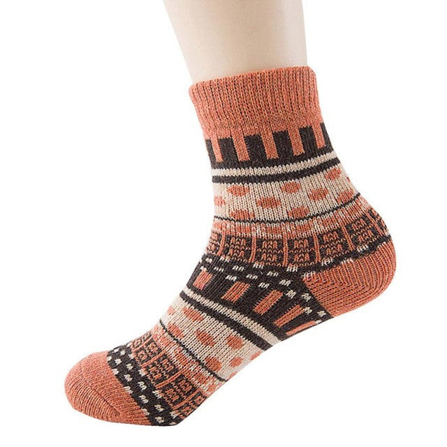 Multi Patterned Cosy Socks - roshanthy