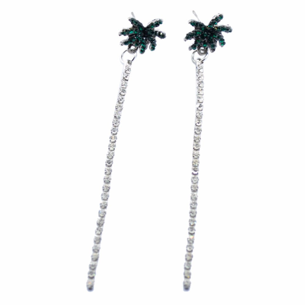 Coconut tree pattern  Earrings - roshanthy
