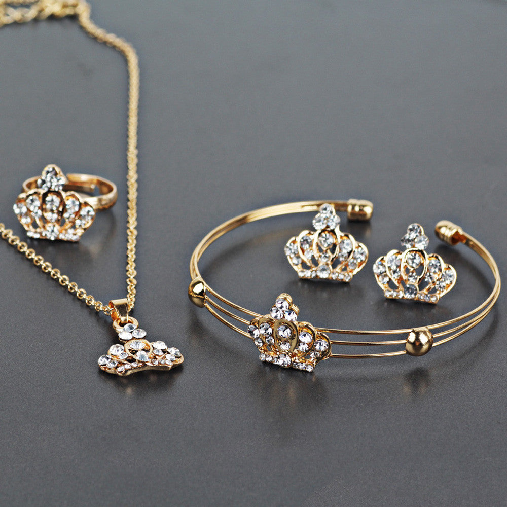 Vintage Imperial Crown style Jewellery Set - roshanthy
