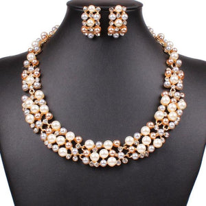 Necklace and Earrings Jewellery Set - roshanthy