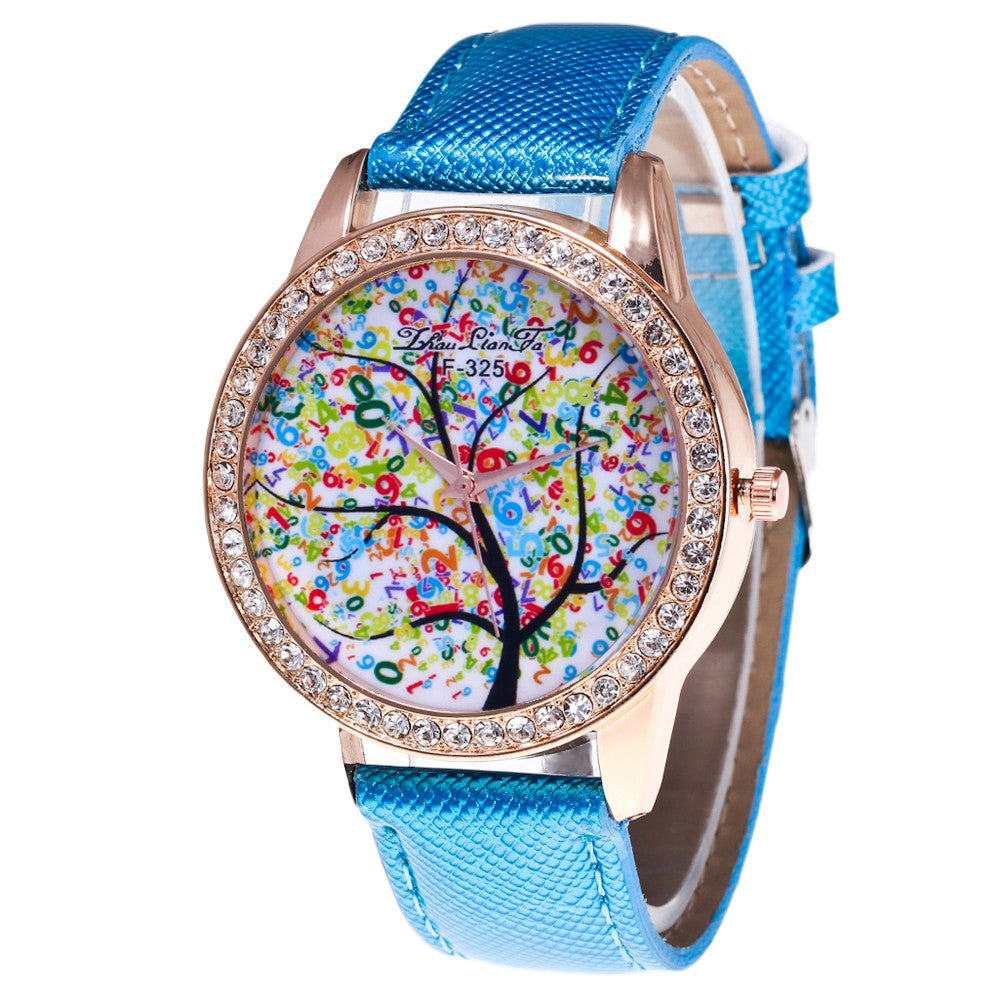 Colourful Watches with Pretty Tree Dial - roshanthy