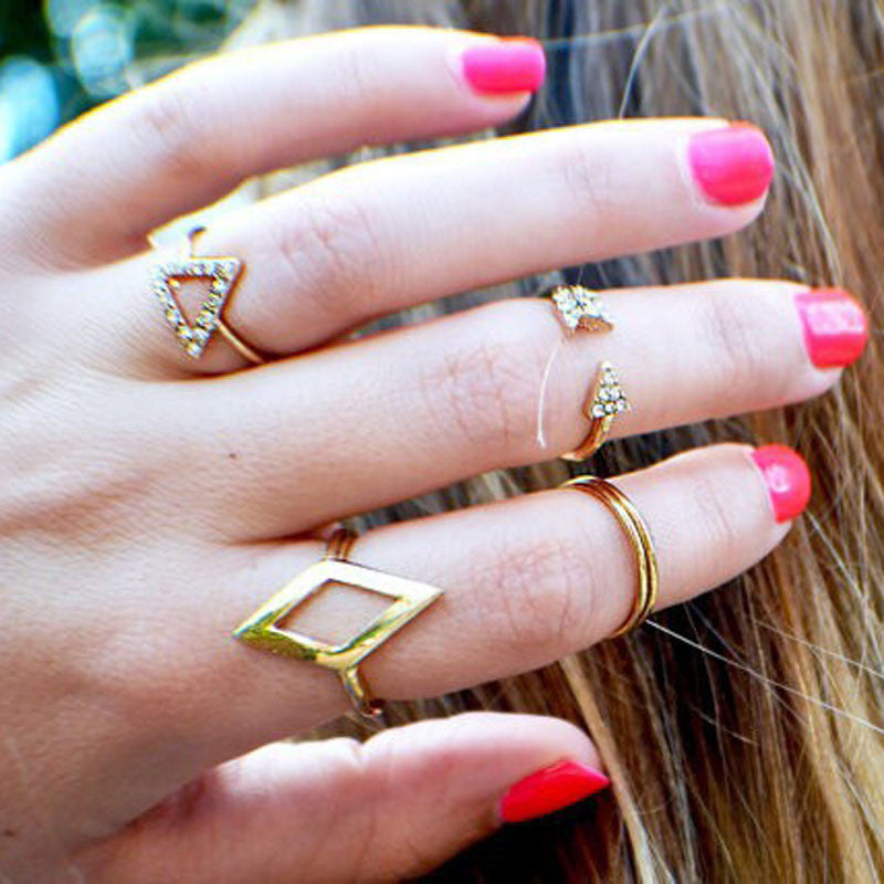 Arrow, Triangle and Diamond Shaped Rings - roshanthy