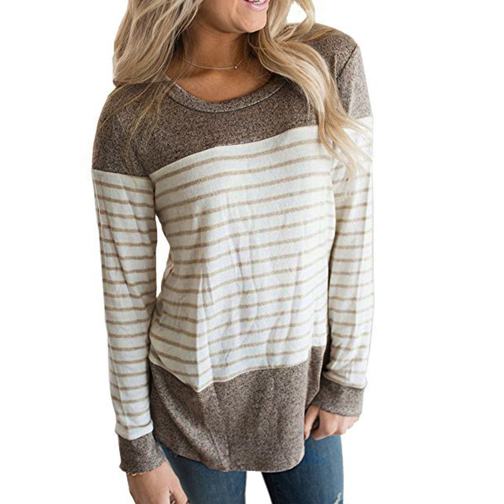Long Sleeve Striped Cotton Top - roshanthy