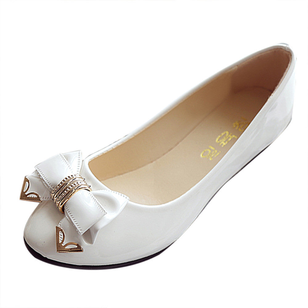 Bow Tie Flat Shoes - roshanthy