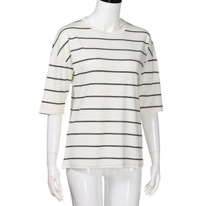 O-Neck Striped Top - roshanthy