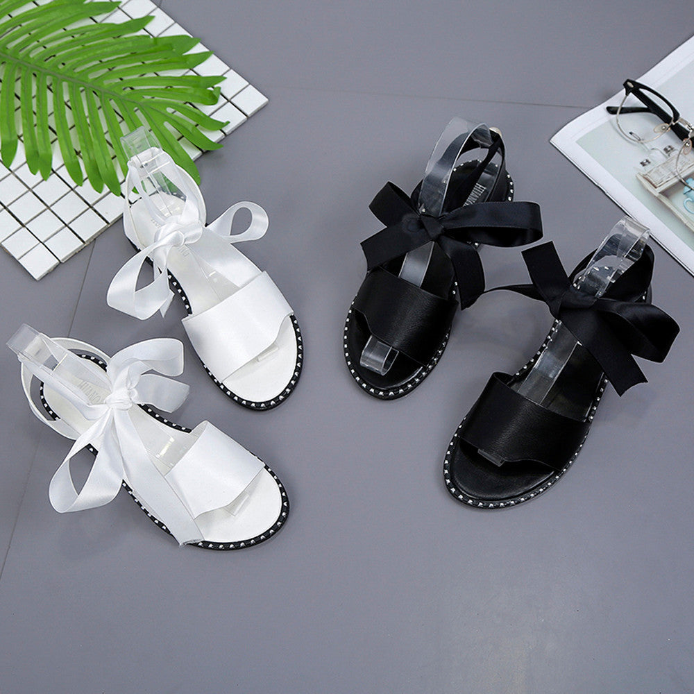 Lace Up Classic Sandals - roshanthy