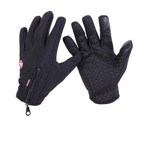 Thermal Touchscreen Zipper Gloves - roshanthy