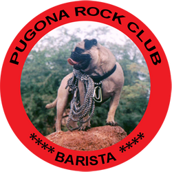 Pugona Rock Barista Club Mugs