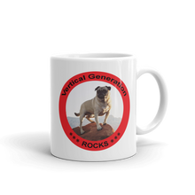 Vertical Gene Rocks Mug Red