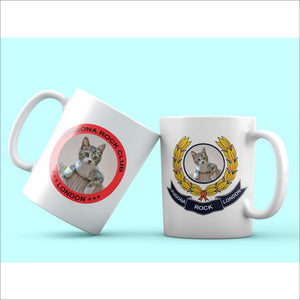 London Coffee 2-Mug Set & Surprise Gift (Miss Kitty) - Pugona Rock Club