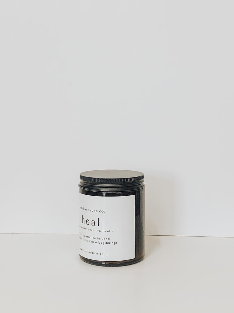 {HEAL} | pink tourmaline crystal intention candle - 200G