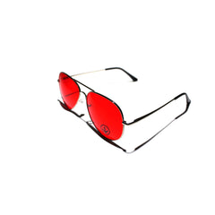 DWi Teardrop Sunglasses - Coloured Lens (Red)