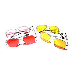 DWi Teardrop Sunglasses - Coloured Lens (Yellow)