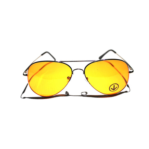 DWi Teardrop Sunglasses - Coloured Lens (Orange)