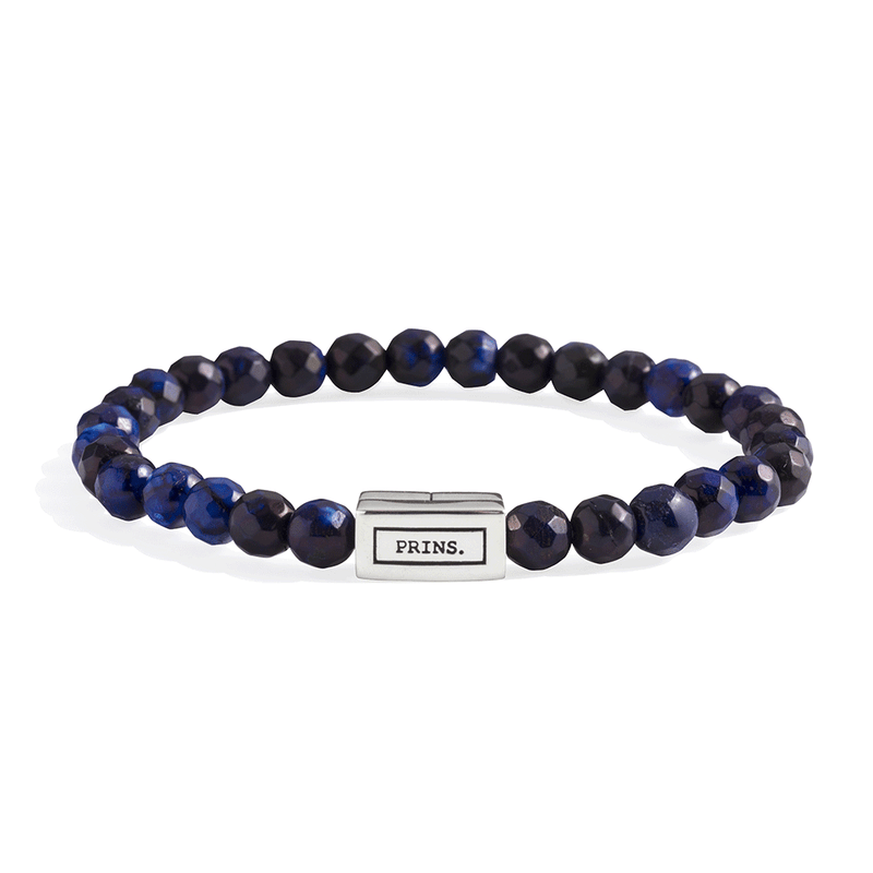 ADAM. Blauw agaath armband | 6mm