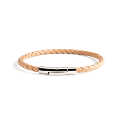 The Minimal - Beige leren armband (4mm)